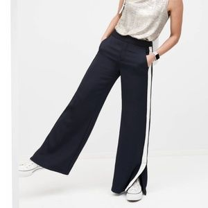 NWT Banana Republic High Rise Wide Leg Stripe Pant